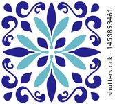 ceramic tile  portuguese tiles  ...   Shutterstock .eps vector #1453893461