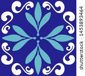 ceramic tile  portuguese tiles  ...   Shutterstock .eps vector #1453893464