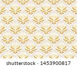 luxury floral art deco... | Shutterstock .eps vector #1453900817