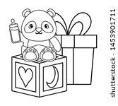 cute little bear panda baby... | Shutterstock .eps vector #1453901711