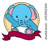 cute little elephant baby in... | Shutterstock .eps vector #1453902344