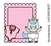 cute little unicorn baby with... | Shutterstock .eps vector #1453902857