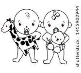 babies boy and girl baby shower ... | Shutterstock .eps vector #1453902944