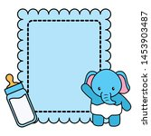 cute little elephant baby card... | Shutterstock .eps vector #1453903487