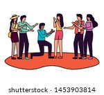 man proposing marriage to woman ...   Shutterstock .eps vector #1453903814