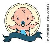 cute little baby boy emblem... | Shutterstock .eps vector #1453904561