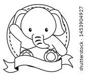 cute little elephant baby in... | Shutterstock .eps vector #1453904927