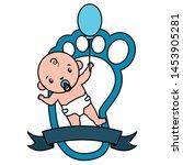 cute little baby boy with... | Shutterstock .eps vector #1453905281