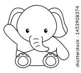 cute little elephant baby... | Shutterstock .eps vector #1453908374