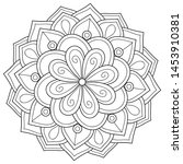 adult coloring book page a zen... | Shutterstock .eps vector #1453910381