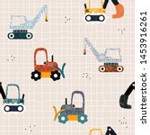 kids seamless pattern with... | Shutterstock .eps vector #1453916261