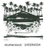 vintage summer scene with... | Shutterstock .eps vector #145396534
