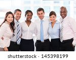 happy group of business people... | Shutterstock . vector #145398199