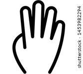 four fingers hand gesture in... | Shutterstock .eps vector #1453982294