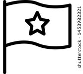 national flag with a star ... | Shutterstock .eps vector #1453982321