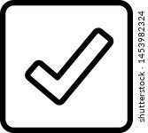 outline effect tick mark under... | Shutterstock .eps vector #1453982324