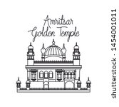 edification of amritsar golden... | Shutterstock .eps vector #1454001011