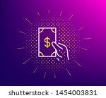hold cash money line icon....   Shutterstock .eps vector #1454003831