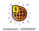 global markets sign. halftone...   Shutterstock .eps vector #1454003837