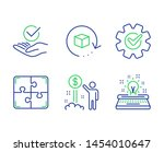 approved  puzzle and cogwheel...   Shutterstock .eps vector #1454010647