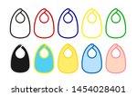 baby bib vector template...   Shutterstock .eps vector #1454028401