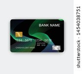 green credit card design. with...   Shutterstock .eps vector #1454038751