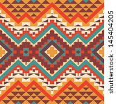seamless colorful aztec pattern   Shutterstock .eps vector #145404205