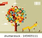marketing teamwork business... | Shutterstock .eps vector #145405111