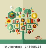 eco conservation city... | Shutterstock .eps vector #145405195