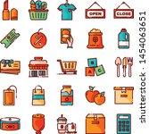 supermarket icons pack....   Shutterstock .eps vector #1454063651