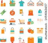 supermarket icons pack....   Shutterstock .eps vector #1454063657