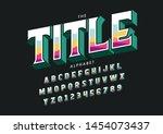 vector of stylized modern font... | Shutterstock .eps vector #1454073437