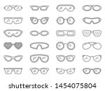 glasses thin line icon set. eye ... | Shutterstock .eps vector #1454075804
