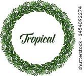 green leaves frame abstract for ... | Shutterstock .eps vector #1454092274
