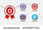set of archery business concept ... | Shutterstock .eps vector #1454097701