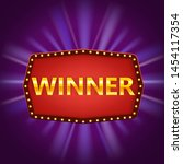 winner retro frame label banner ...   Shutterstock .eps vector #1454117354