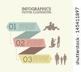 infographics ribbons over white ... | Shutterstock .eps vector #145411897