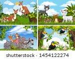 set of various animals in...   Shutterstock .eps vector #1454122274