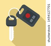 car key security icon. flat... | Shutterstock .eps vector #1454127701