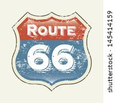 route 66 label over white... | Shutterstock .eps vector #145414159