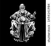 Skull Riding A Motorcycle Skull ...
