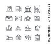 stroke line icons set of... | Shutterstock .eps vector #1454146391