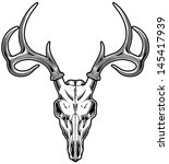 anatomy,animal,antelope,antler,black and white,bones,buck,deer,deer skull,elk,head,horn,hunter,hunting,illustration
