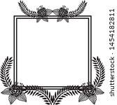 floral frame. floral wreath.... | Shutterstock .eps vector #1454182811