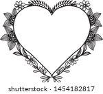 floral frame. floral wreath.... | Shutterstock .eps vector #1454182817