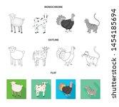 vector design of breeding and... | Shutterstock .eps vector #1454185694