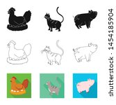 isolated object of breeding and ... | Shutterstock .eps vector #1454185904