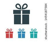 illustration of gift box icon o ... | Shutterstock .eps vector #1454187584