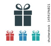 illustration of gift box icon o ... | Shutterstock .eps vector #1454196821