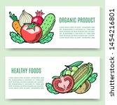 vegetables organic food vector...   Shutterstock .eps vector #1454216801
